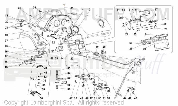2002 Lamborghini Murcielago Coupe Dashboard Instruments Tav 60 01 00