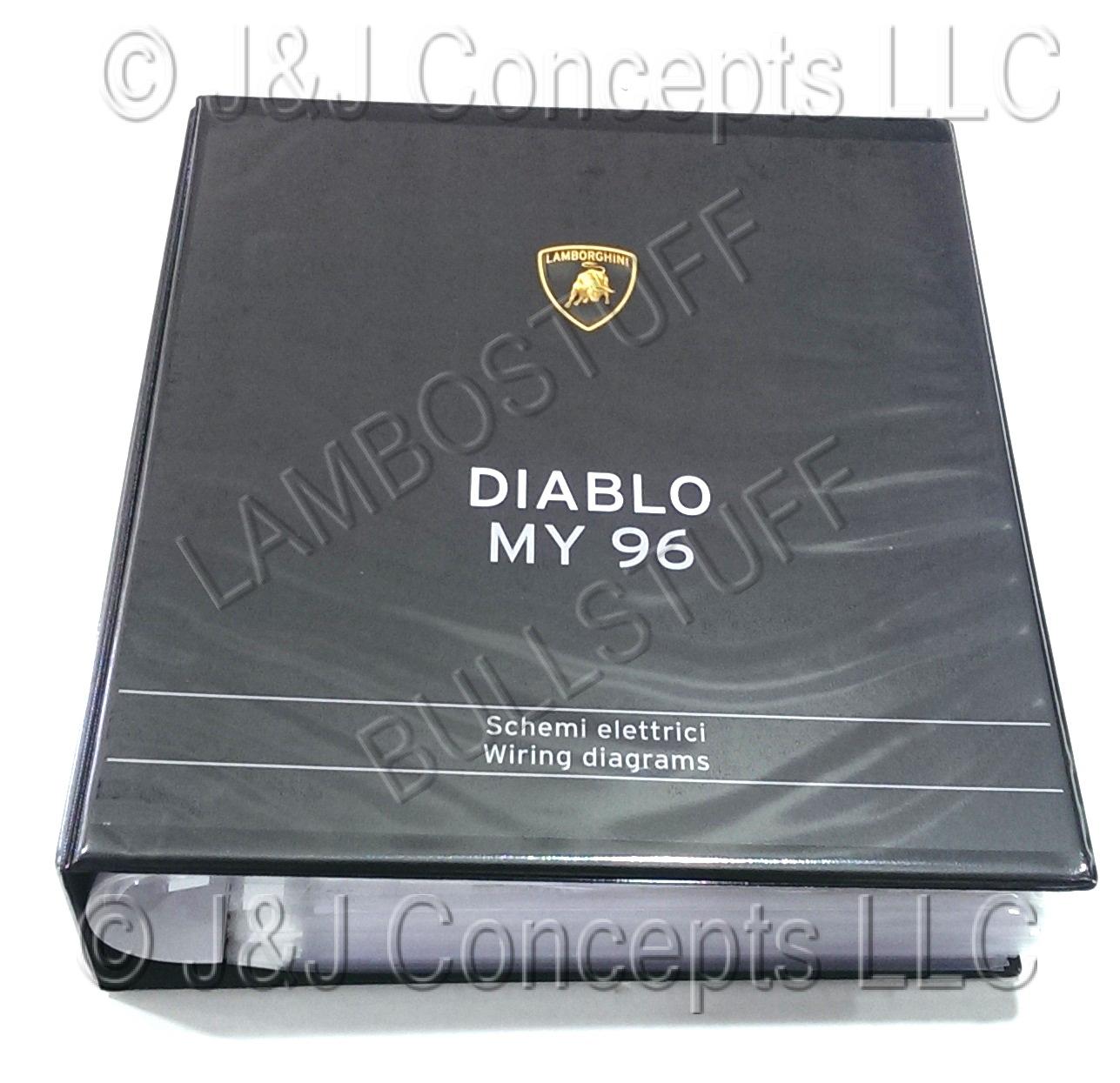Lamborghini Wiring Manuals Original Factory Reg Books Diablo 1996 Manual